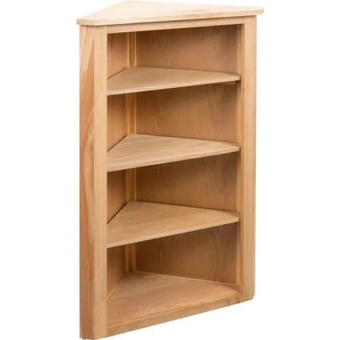 etagere d angle a 4 niveaux etageres de rangement pour cuisine salon bureau meuble de rangement avec 4 tablettes marron camsoos