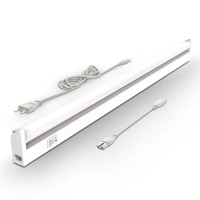 reglette led barre lumineuse placard pivotable de 150 pour cuisine atelier couleur blanche