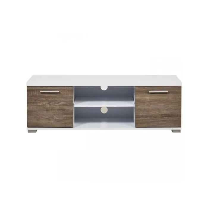 bobochic meuble tv tendance en bois mdf polly bla