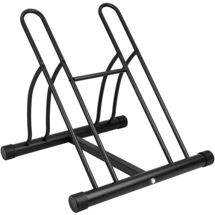 ratelier 2 velos systeme range velo support pour bicyclette en acier fixation