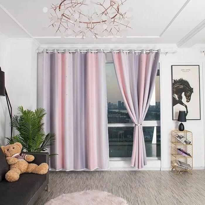 double couche creuse fenetre ombrage drape rideau
