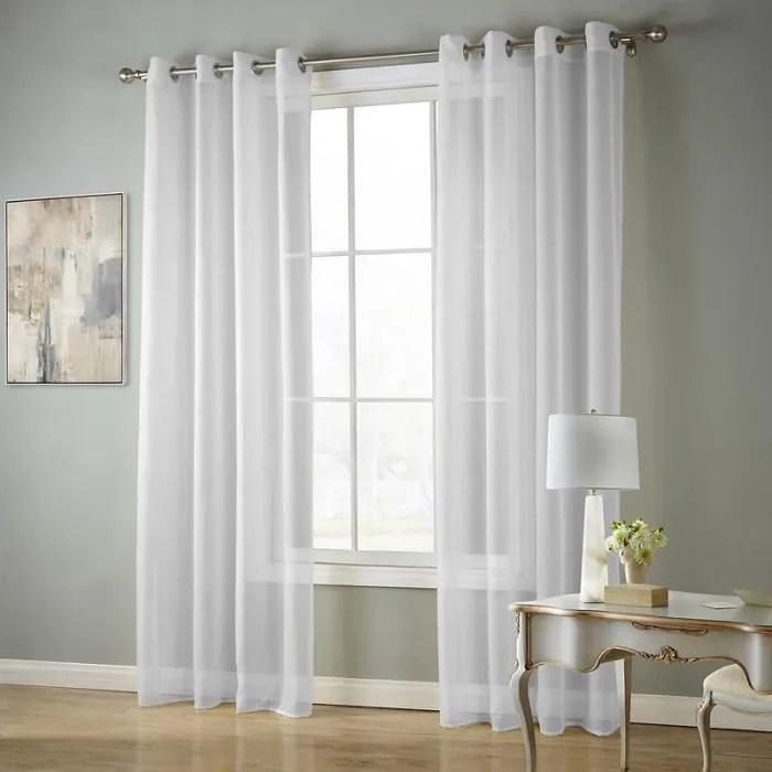 rideau blanc salon