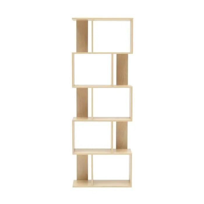 mobili rebecca bibliotheque etageres bois beige de