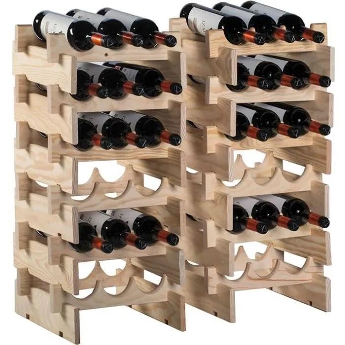 casier range bouteilles merlot 6 cases pin massif