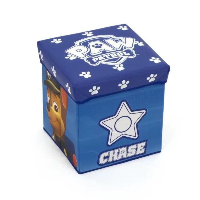 pat patrouille pouf cube de rangement