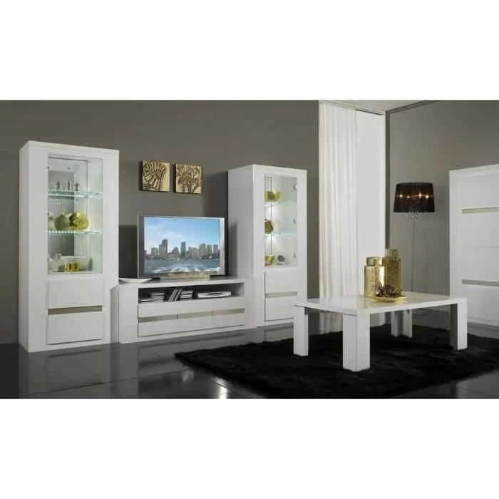 vitrines design laque blanc diva blanc
