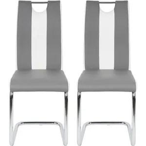 chaise blanche et grise