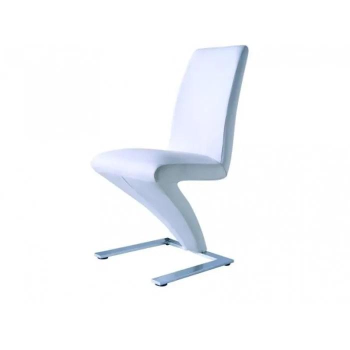 chaise design z blanche achat vente