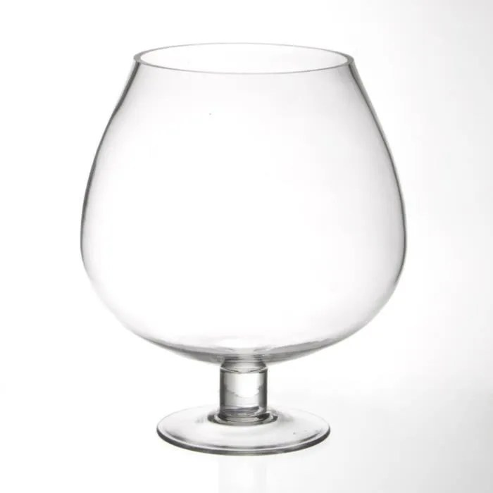 coupe sur pied verre 26cm transparent
