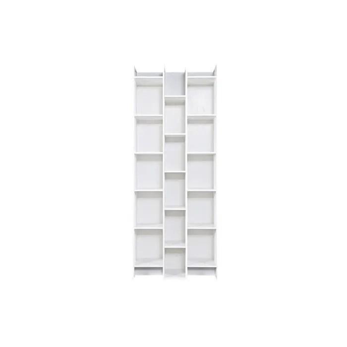 miliboo bibliotheque design bois blanc climb