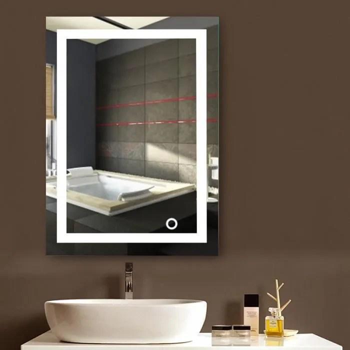 Miroir Lumineux Led De Salle De Bain 9w Dim 50 X 4 X 70 Cm Blanc Froid Achat Vente Miroir Salle De Bain Soldes Sur Cdiscount Des Le 20 Janvier Cdiscount