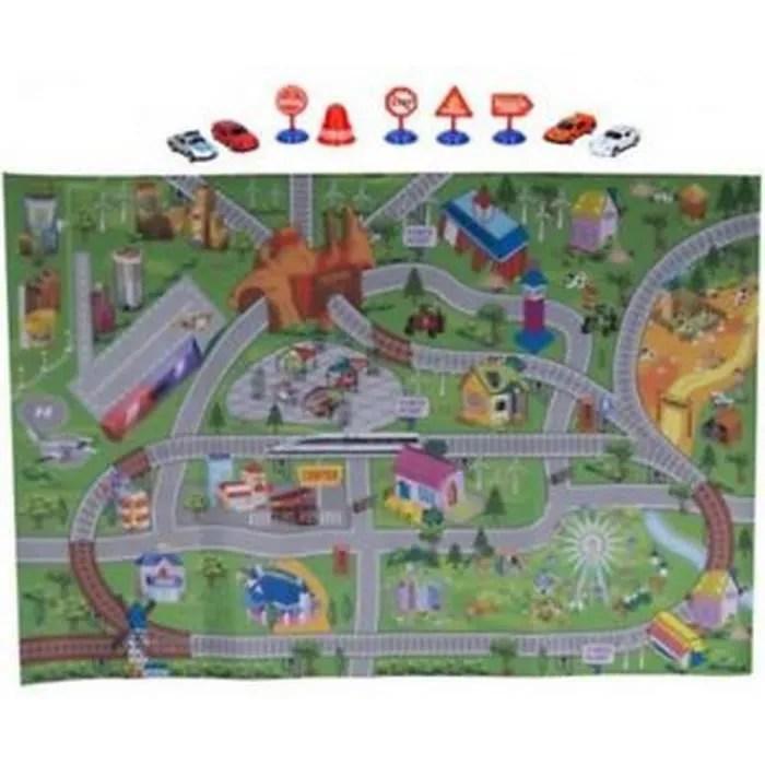 tapis voiture 120 x 80 jouet jeu enfant garcon c