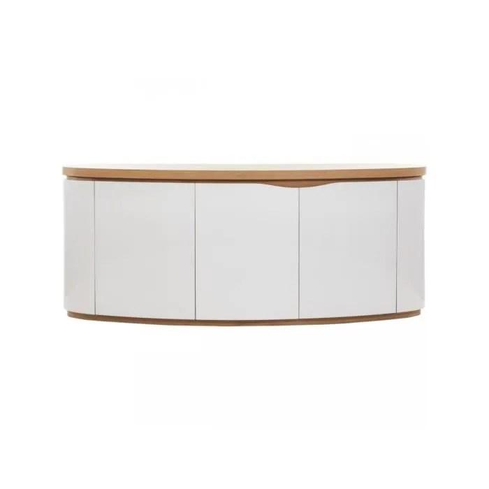 bobochic bahut 3 portes ellipse chene et blanc bois design contemporain produit teste et approuve 209x55x85