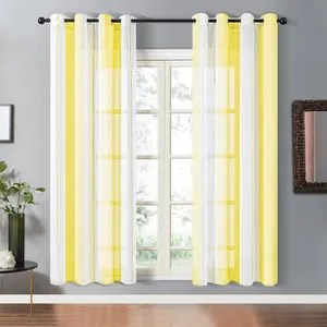 rideaux voilages jaune