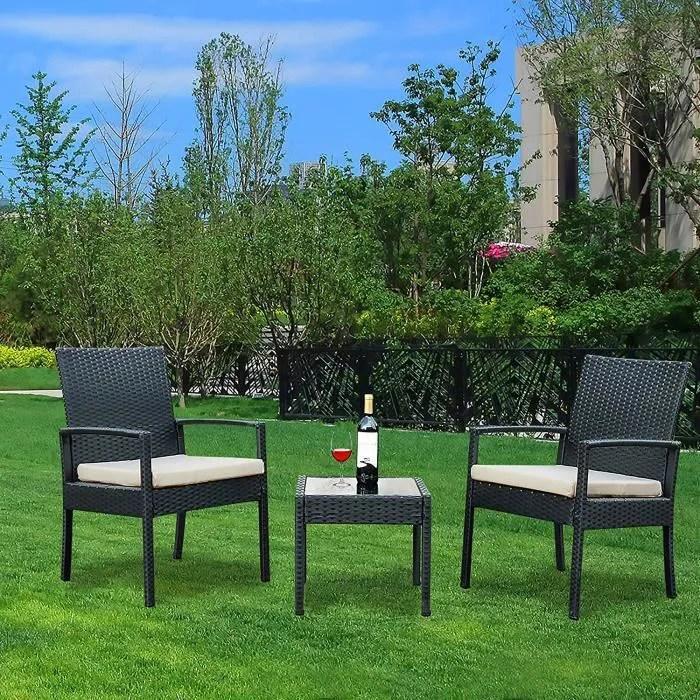 youke ensemble de meubles de jardin en