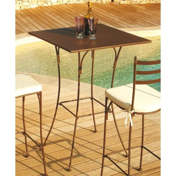 table haute mange debout en fer forge