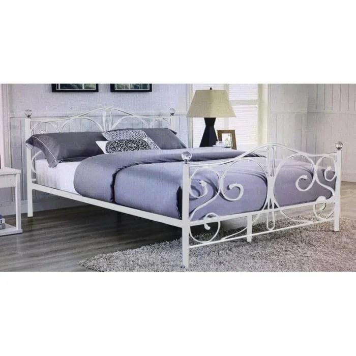 lit complet lit en fer forge 2 places