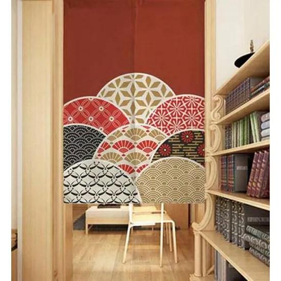 rideau de separation de cuisine de style japonais classique de rideaux de porte modele de fleur
