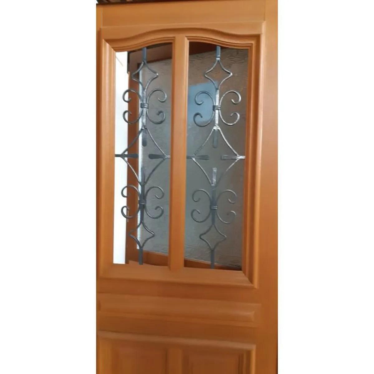 porte d entree en bois 215 x 90 gauche vitrage isolant 4 16 4 argon