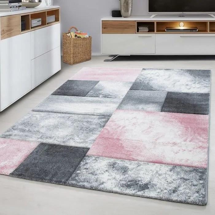 tapis tapis gris et rose