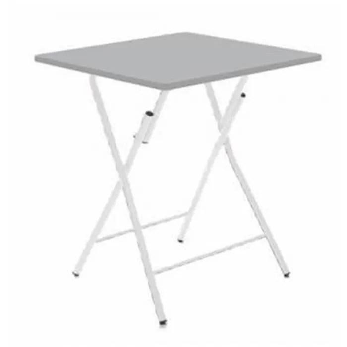 table pliante grise 60 x 60 x 75 cm