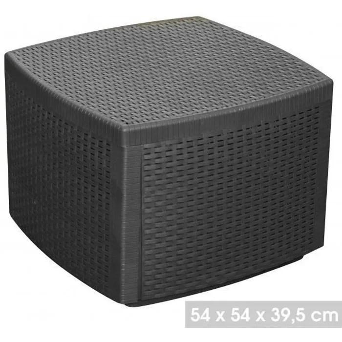 table cube coffre meuble de jardin