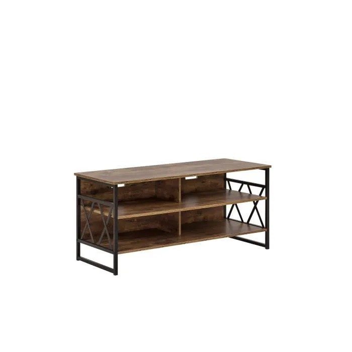 beliani meuble tv imitation bois