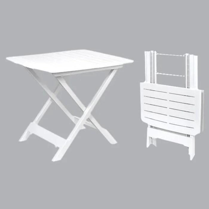 table adige camping pvc 45 x h52 cm blanc