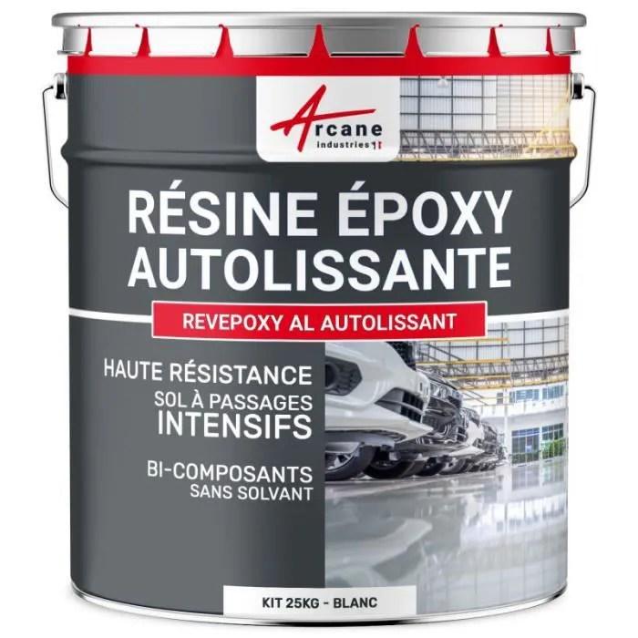 resine epoxy autolissante blanc kit de 25 kg