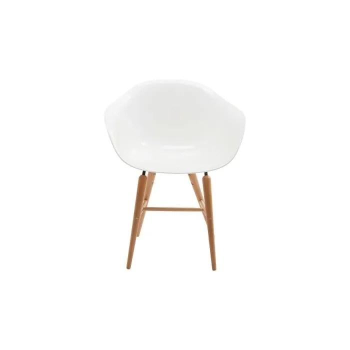chaise bauhaus blanche pied en bois
