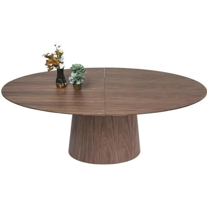 table a rallonges benvenuto noyer kare design