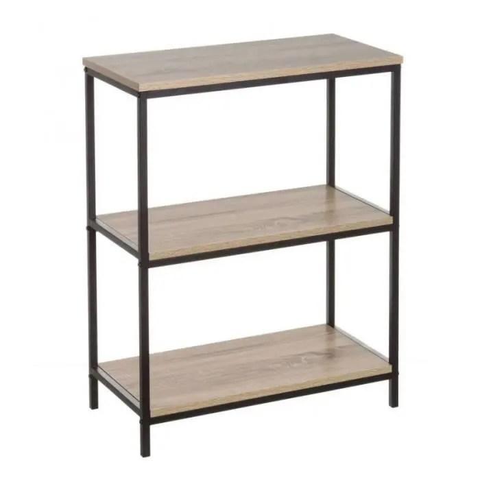 etagere basse metal noir et bois hauteur 76cm 0 000000