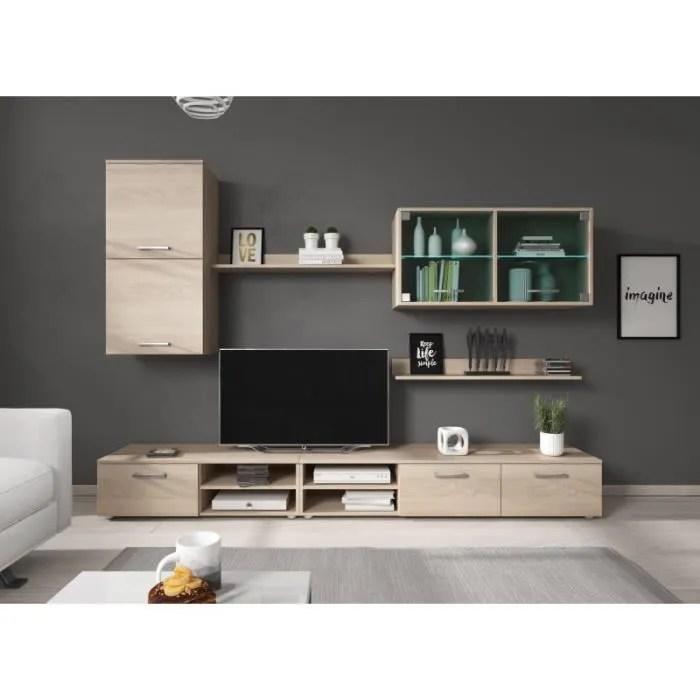 ensemble meuble tv hitch couleur bois