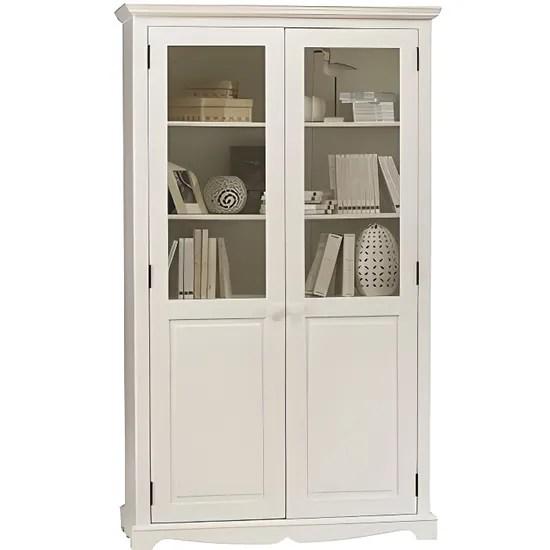 bibliotheque blanche 2 portes de style anglais