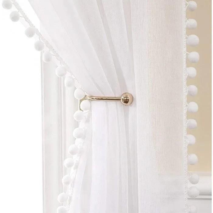 jupitte lot de 2 rideaux voilages blanc
