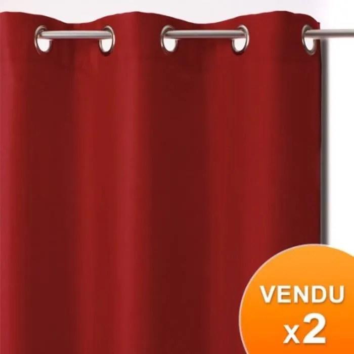 rideaux occultant rouge lot de 2