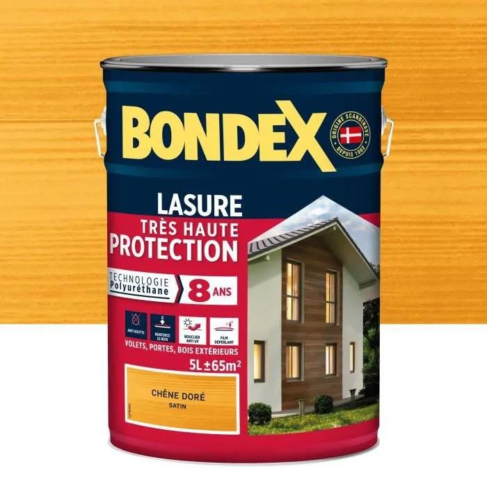 bondex lasure haute protection8 ans 5l chene dore
