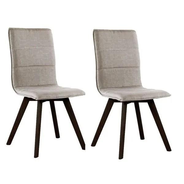 lot x2 chaises scandinaves en tissu n 3