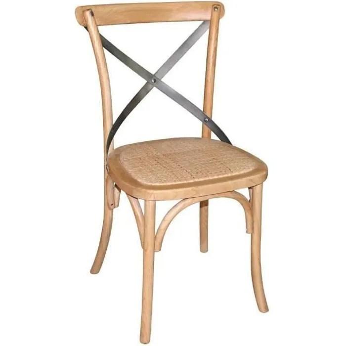 bolero chaises salle a manger en bois naturel avec dossier pack de 2