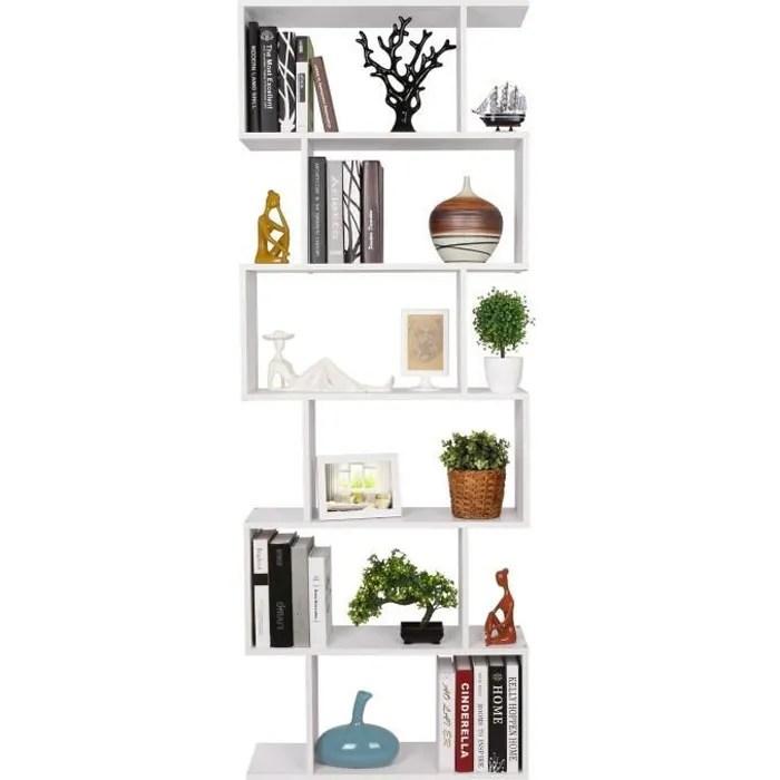homfa bibliotheque etagere de livres etagere pour livres etagere de rangement en forme s pour bureau salon chambre d etude