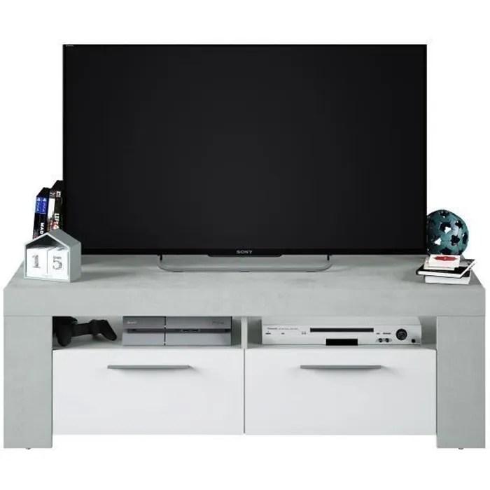 ambit meuble tv 2 portes style contemporain gr
