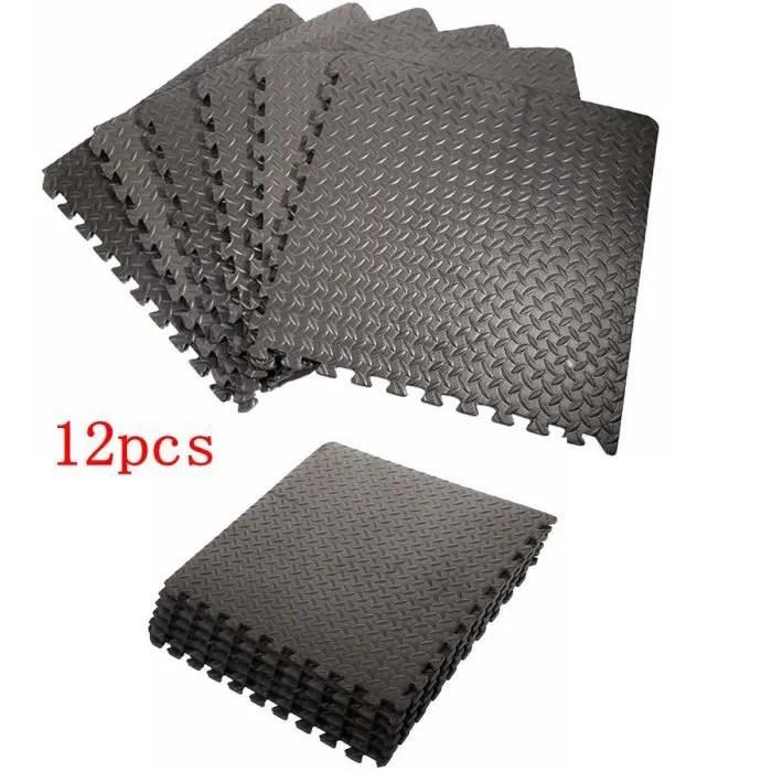tapis de sol 12pcs tapis de puzzle en mousse de