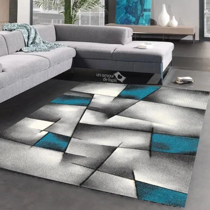 tapis triangula bleu tapis moderne 120 x 170 cm