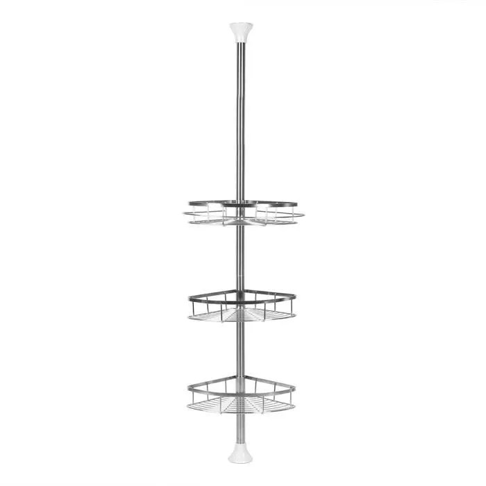 etagere d angle salle de bain en acier inox abs 3