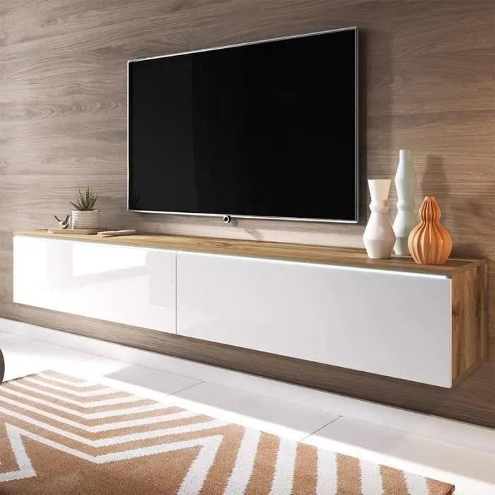 لحاء الشجر مشين حفرية meuble tv suspendu bois amazon