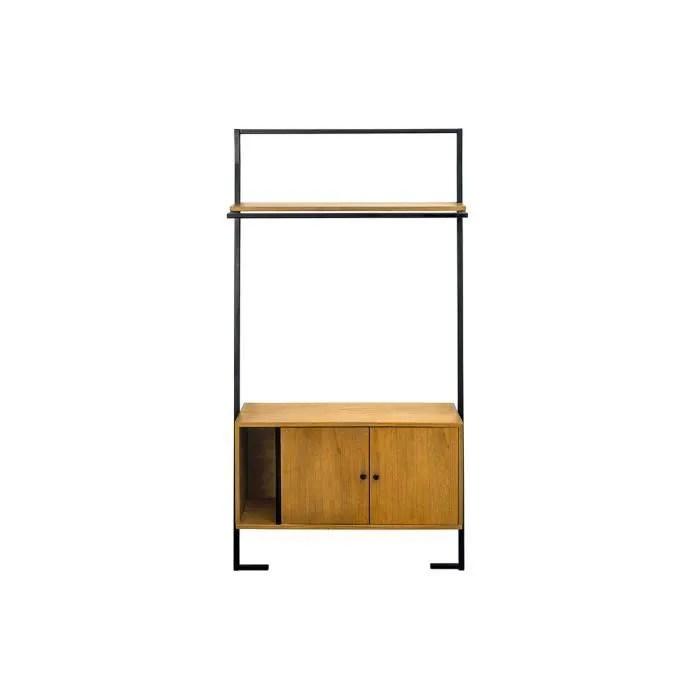 miliboo meuble de rangement vintage bois et meta