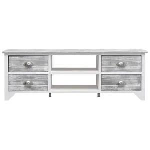 meuble gris blanc