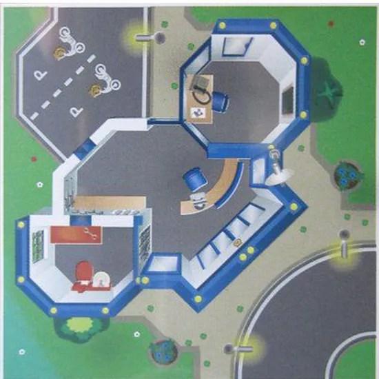 tapis de jeu playmobil police