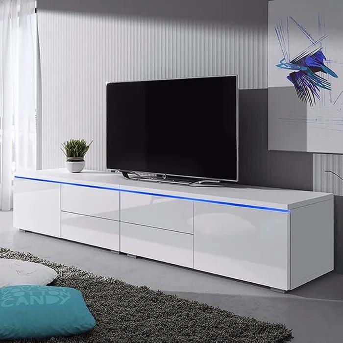 meuble tv luv double meuble tv 2x100 cm