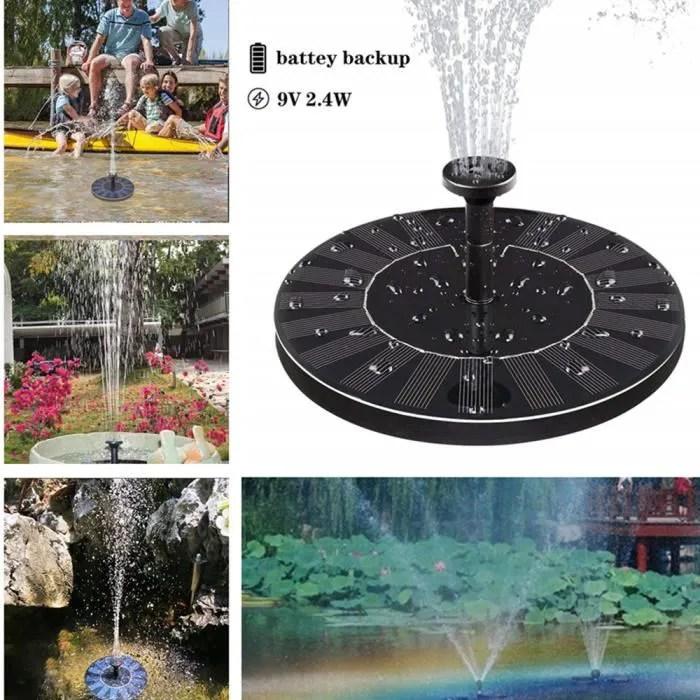 fontaine solaire avec rangement electrique pour po